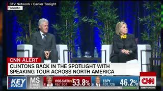 Hillary Clinton begins speaking tour with 2020 joke