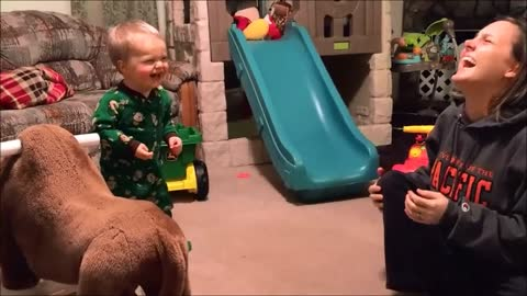 Baby's laugh attack will brighten your day!