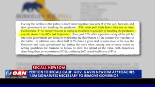 Petition to recall Calif. Gov. Gavin Newsom approaches 1.5M signatures necessary to remove governor