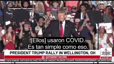 """June 26th 2021 Trump: """"They used COVID to steal the election"""" (Spanish Subtitles)"""