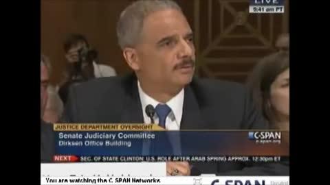 Eric Holder Choking on his Testimony