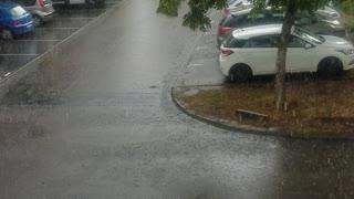 raining in france