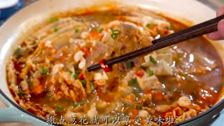 Today, make a delicious dish with Chinese cabbage and beef