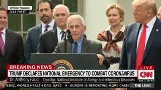 Dr. Anthony Fauci praises Trump coronavirus response