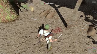 H1Z1 Just Survive early alpha 2015 skinning a bear.
