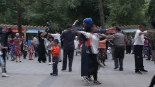 dance of xinjiang .