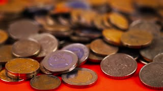 Commercial photography, close-up of coins