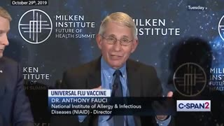 Fauci discussing with HHS officials bringing a new mRNA vaccine to market Oct 2019