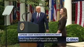 Donald Trump Nominates Amy Coney Barrett for Supreme Court Justice