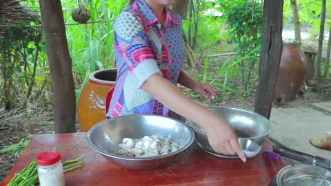 Chicken Tail Yummy Sauce Frying - Cooking With Sros
