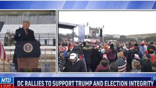 "Trump Rally DC Jan 6th - says "" BULLSHIT!"" crowd erupts!"
