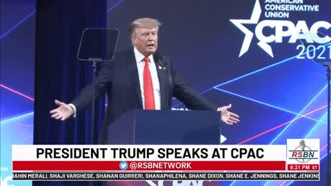 President Donald Trump SPEECH at CPAC 2021 in Dallas, TX 7-11-21