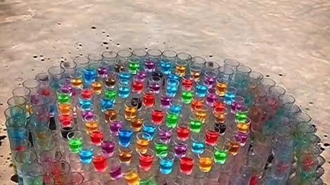 Colorful Glass domino