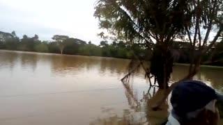 impactantes videos tras la ruptura de dos diques en Sabana de Torres y Rionegro