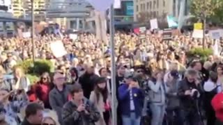 Absolutely MASSIVE anti-mask protest in Toronto, Canada