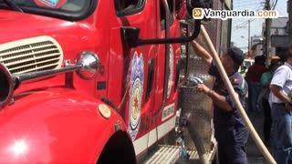 Video registró incendio en fábrica de químicos en Bucaramanga