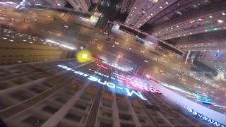 Crazy BASE Jump Off Skyscraper in Rain