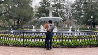 Girl Proposes to Unsuspecting Boyfriend in Forsyth Park
