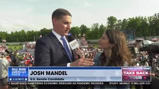 Josh Mandel joins Amanda Head at President Trump's #TakeBackTour