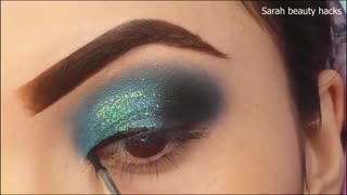 Classic Brown Glitter Eye Makeup Tutorial 2021