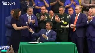 HERO Governor Ron DeSantis Signs Anti-Riot Bill in Florida