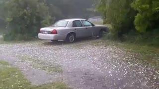 Terrifying Hail Storm Caught On Camera