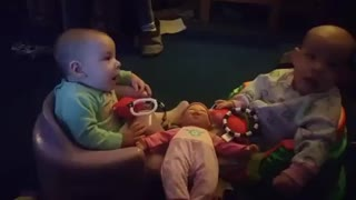 The babies first fight. Wait for it...
