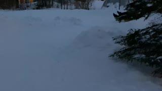 Snow Slide Stretches Across Multiple Backyards