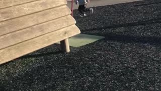 Kiddo Gets Dizzy at the Playground