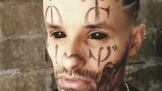Tattoo face eye ball tattoo