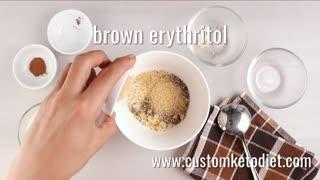 Keto brown sugar and cinnamon breakfast oats