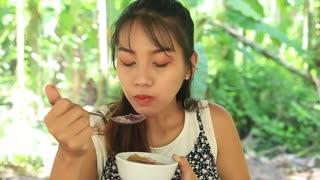 Yummy cooking dessert sweet potato recipe _ Cooking skills _ Khmer Survival Skills