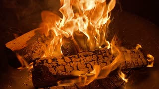 Logs Burning In Fire Pit virtual campfire