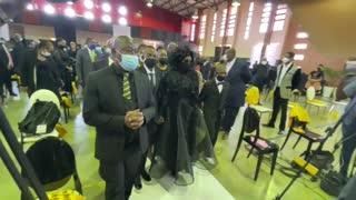 The body of the late City of Joburg Mayor Jolidee Matongo arrives