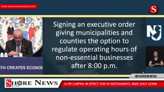 NJ Governor Phil Murphy Imposes Restaurant Curfew, Local Business Curfews