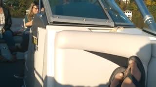 Lake Rabun Georgia Fall Boat Ride