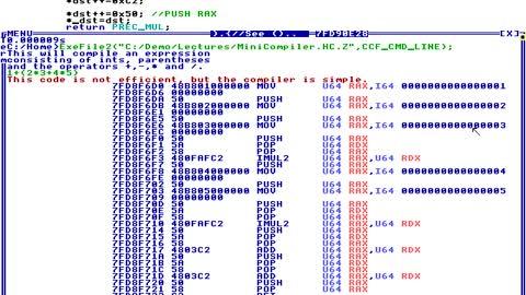 Compiler Machine Code