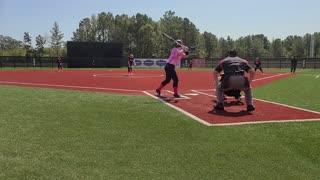 Zoe pitching low strike