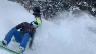 Snowboarders Tumble in a Funny Way