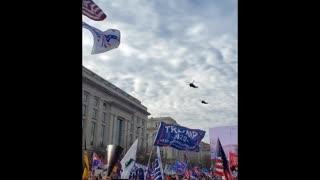 Donald J. Trump Flys Over Million MAGA March