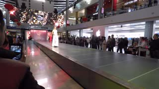Fashion show at the Fashion Show Mall.