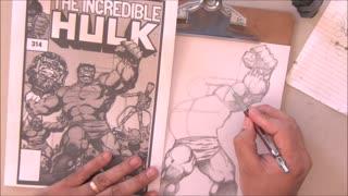 How to Visually Copy Art - Incredible Hulk - Comic Art