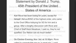Statement From President Trump! 03.05.21