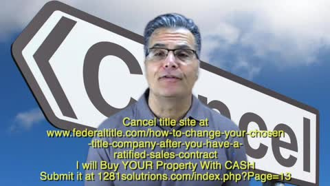 CANCEL TITLE wants to BUY YOUR Property