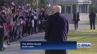 Trump Makes Surprise Appearance, Drops Mic on Media