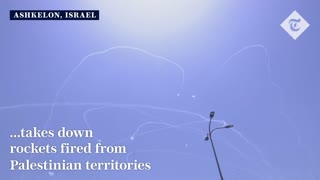 Israel iron dome target rudal from hamas