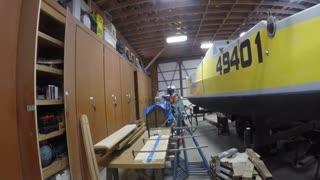 Wood working fun on sv Little Bear
