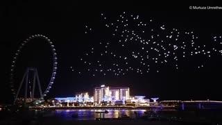 dubai drone light show