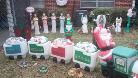 2016 Daytime of my Christmas display outside