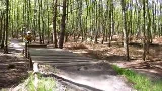 Mountain bike fail crash